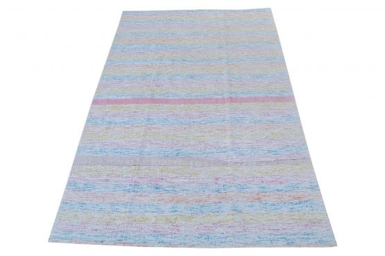 60357 Antique Turkish Multi-Color Handmade Flatweave Rug Size 8'6