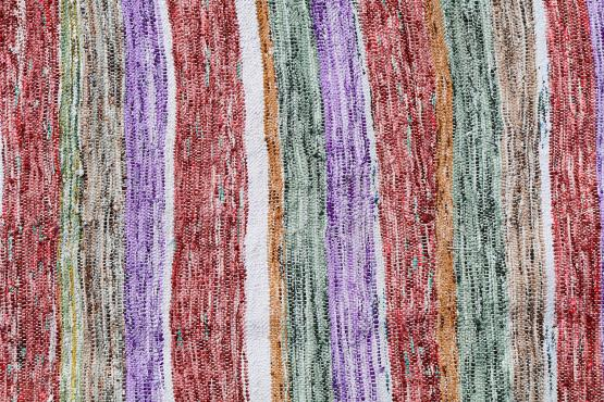 60359 Modern Multi Color Turkish Handmade Flatweave Size 10'8