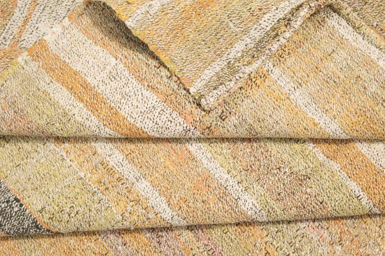 60380 Antique Turkish Handmade Flatweave Rug Size 6'7'x9'6