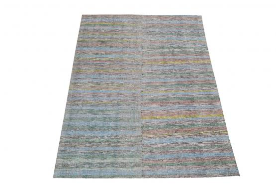 60384 Antique Turkish Handmade Flatweave Rug Size 8'11