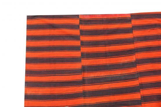 60388-Turkish Modern Handmade Striped Flatweave Textile Rug - 5
