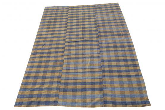 60390 Turkish Modern Handmade Flatweave Rug - 4′11″ × 7′6″
