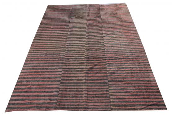 60393 Turkish Modern Handmade Flatweave Rug Size 6'5