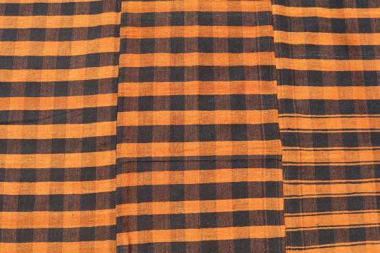 60395 Turkish Modern Handmade Striped Flatweave Textile Rug - 9