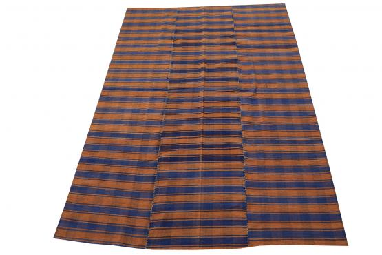 60399 Turkish Modern Handmade Flatweave Rug Size 5'1