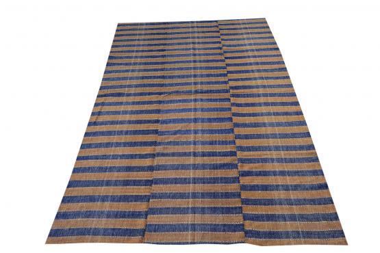 60405 Turkish Modern Handmade Flatweave Rug - 5′6″ × 8′11″