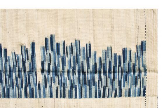 60463 Wool Baneh Kilim 7'8