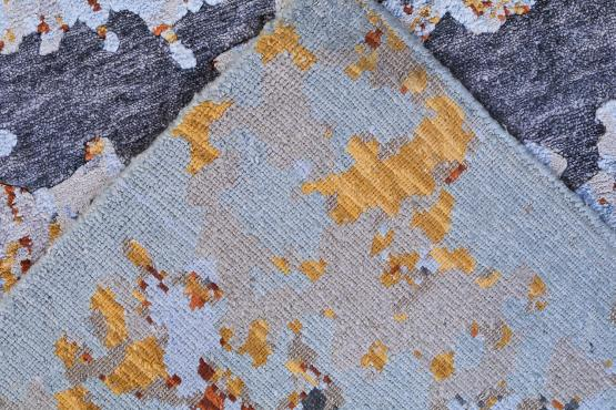 60542 Hand-knotted Contemporary Indian Rug 8'x9'11