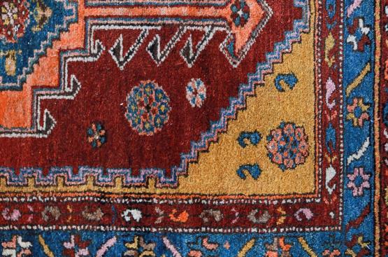 60672 Antique Kurdish Rug 3'7
