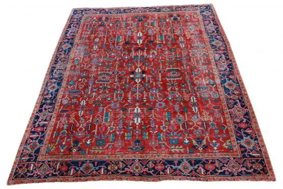 60674 Antique Heriz Rug 12'6