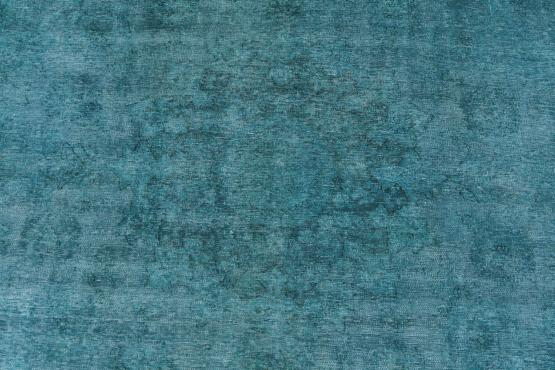 60812 Hand-knotted Vintage Overdyed Rug 8'8