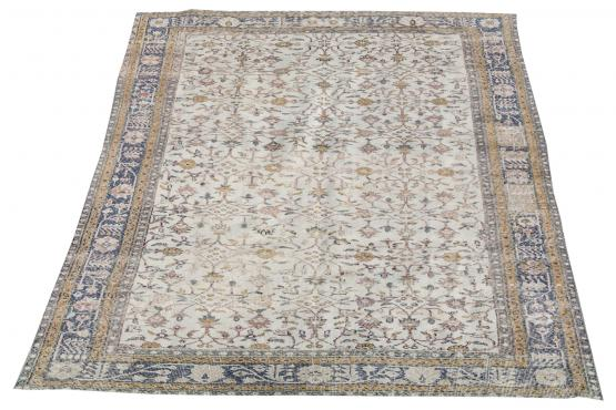 60888 Vintage Turkish Hand Knotted 10'1