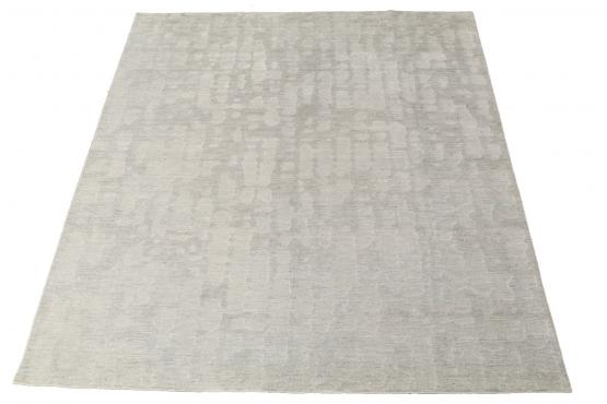 61033 hand knotted contemporary rug 10'x8'