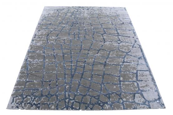 61068 hand knotted contemporary rug 14'1