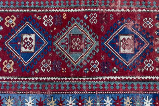 61082 Antique Kazak 4'2