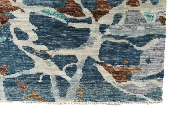 61092 hand knotted contemporary rug 10'2