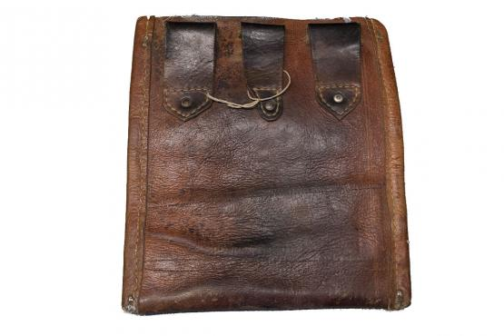 61275 Antique Rare bag with leather back 10