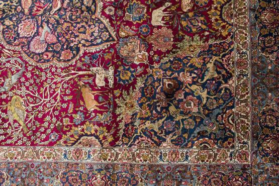 61294 ANTIQUE TABRIZ CARPET 14.2x18.3