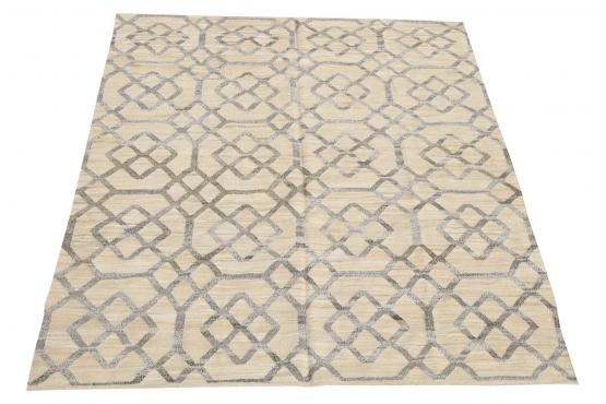 61323 Turkish Kilim Woven with old Wool 9'11