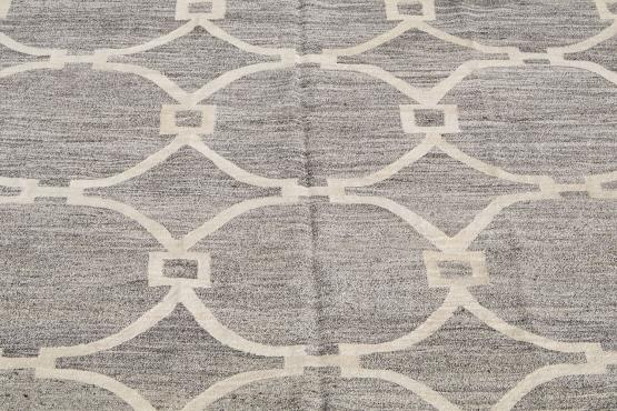 61326 Turkish Kilim Woven with old Wool 10'2