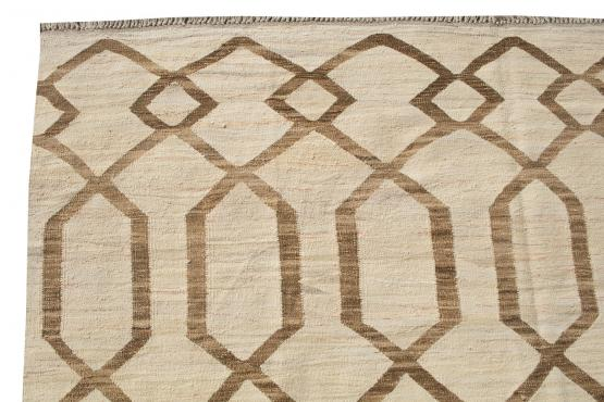 61329 Turkish Kilim Woven with old Wool 10'5