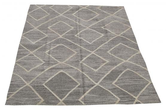 61331 Turkish Kilim Woven with old Wool 9'1