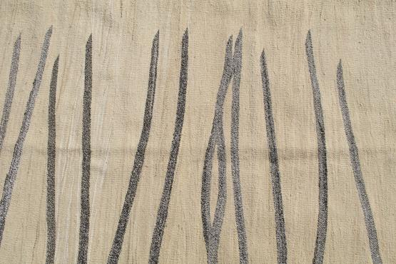 61332 Turkish Kilim Woven with old Wool 10'1