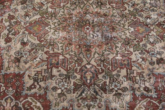 61333 Antique Persian Bakhtiari 18'7