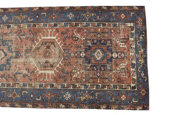 61334 Antique Gharajeh runner 14'3