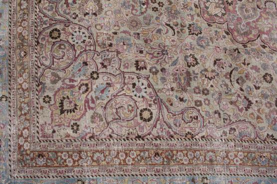 61339 Antique Persian Mashad 13'6