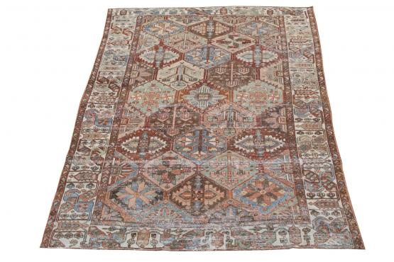 61340 Antique Persian Bakhtiar 10'x6'7