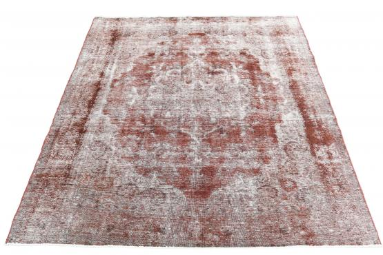 61404 Antique Persian Tabriz over dye carpet 9'7