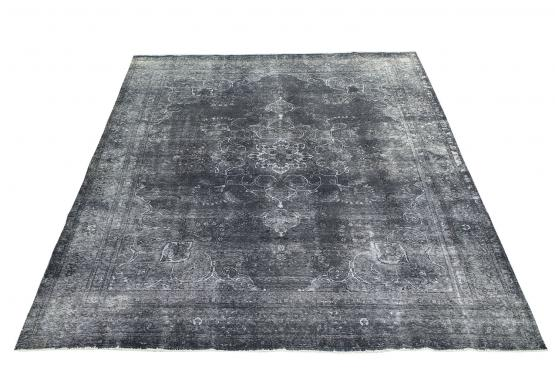 61413 Antique Persian Kerman over dye rug 9'8