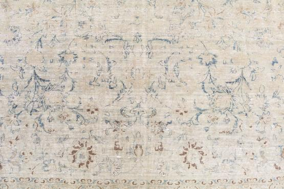 61416 Antique Persian Veramin over dye rug 12'7