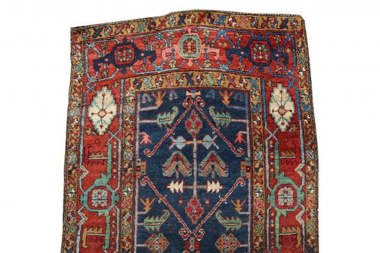 61434 Antique Persian Heriz 13'8