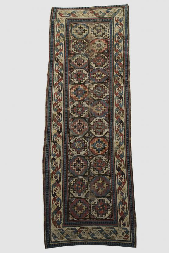 61436 Antique Caucasian Runner 3'4