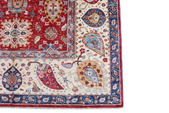 61460 Uzbek design hand made rug 6'7
