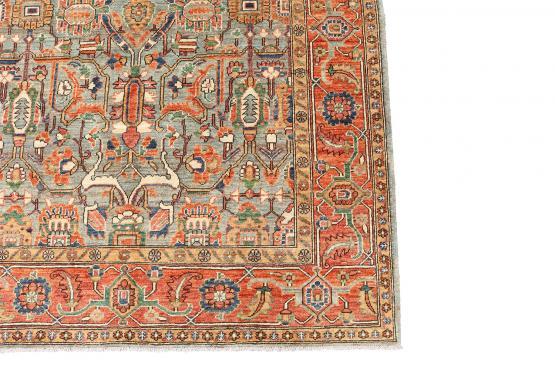 61501 Antique Serapi design rug 9'7