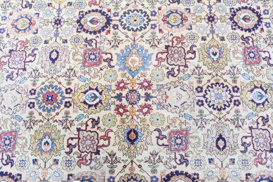 61593 Multi Color Vintage Tabriz 9'x12'