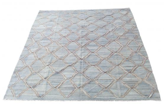 61711 Hand Knotted Modern Kilim 12'2