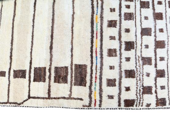 61717 All wool Hand Made Vintage Tribal Persian 9'9