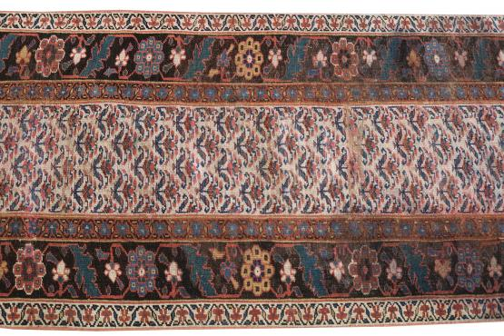 62133 Multi color Brown Runner 15'8