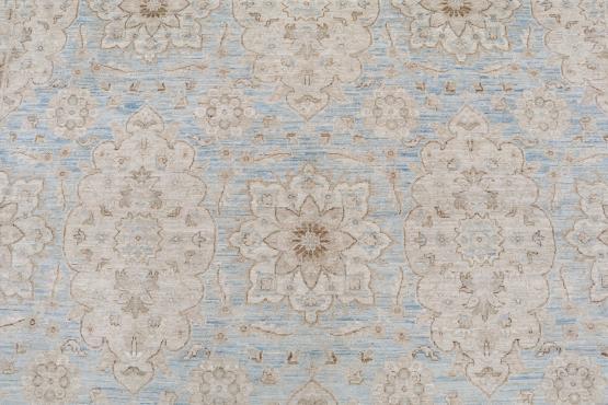 62392 Soft color Afghan rug 9'7