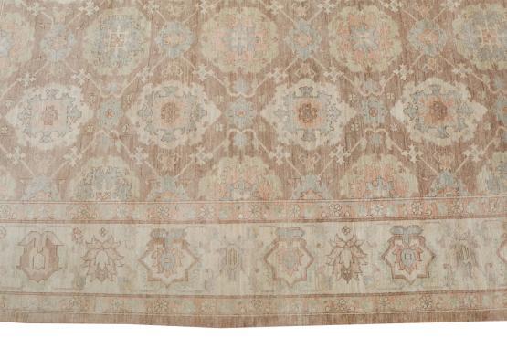 62395 Soft Beige Mahal Afghan rug 8'3