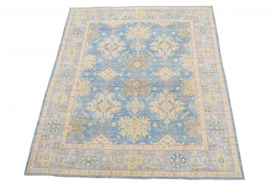 62397 Blue and yellow contemporary 8'x9'9