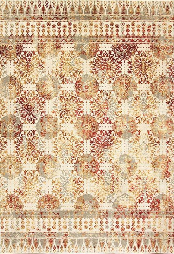 Quartz 5.3X7.7 26110-130 Ivory/Red