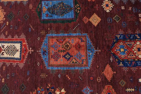 C60480 Wool Afgani carpet 10'7