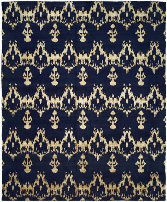 56924 Midnight Blue Hand Knotted Sample Clearance 6'x9'