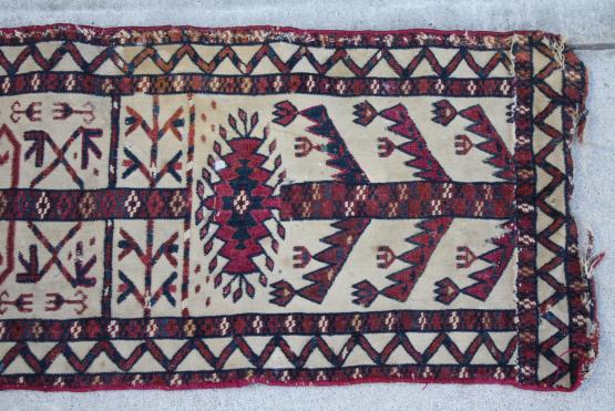 61280 Rare Antique Turkman tentband 1'1