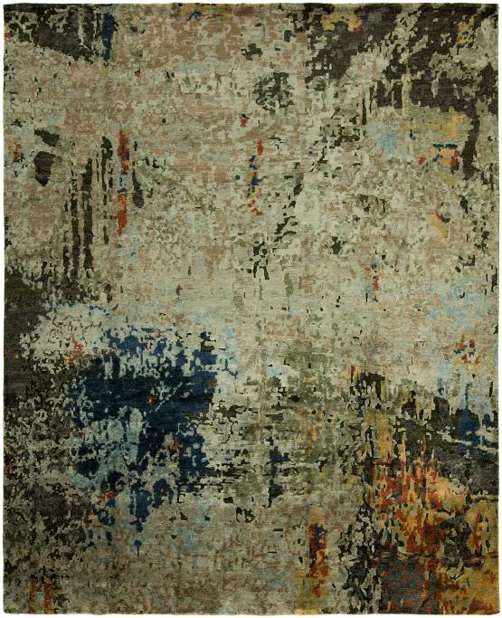 NJ-370 Jolie Hand Knotted Rug Color Multi